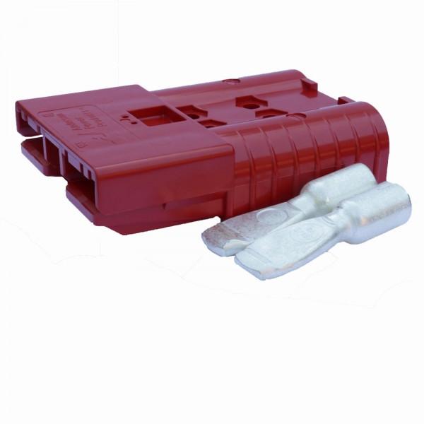 Anderson Flachstecker SBE 320A rot, Stecker inkl. 2 Hauptkontakte, 24 V, 35mm²