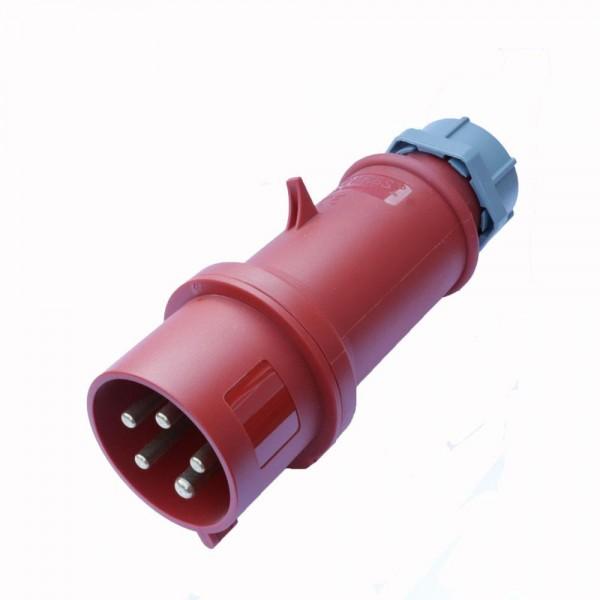 Drehstromstecker CEE 5-polig 400V 32A