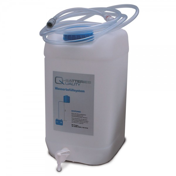 Wasserfüllsystem Fließanzeiger 10 mm Staplerbatterie Aquamatik