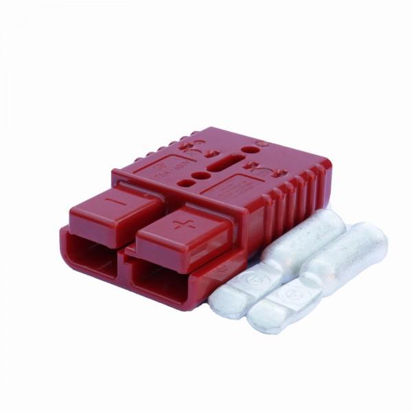 Anderson Flachstecker SB 175A rot, Stecker inkl. 2 Hauptkontakte, 24 V, 33,3mm²
