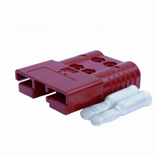 Anderson Flachstecker SB 120 rot, Stecker inkl. 2 Hauptkontakte, 24 V, 35mm²