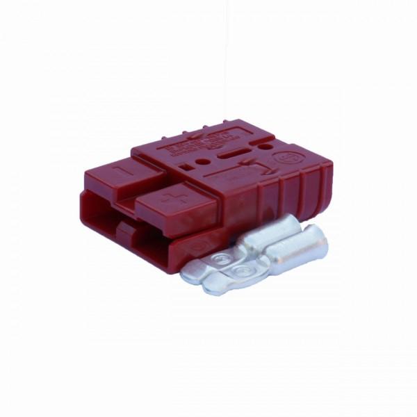 Anderson Flachstecker SB 50A rot, Stecker inkl. 2 Hauptkontakte, 24 V, 16mm²