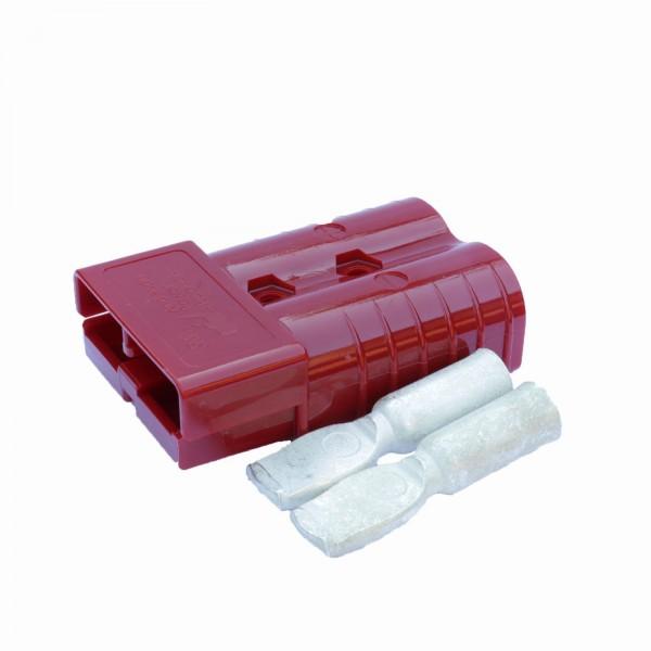 Anderson Flachstecker SBX 350A rot, Stecker inkl. 2 Hauptkontakte, 24 V, 70mm²